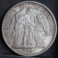France. 0.900 Silver 10 Francs, 1965. Hercules Group. Lustrous aUNC