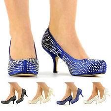 Kitten Bridal or Wedding Court Shoes for Women
