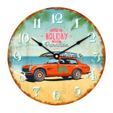 Reloj de pared 30cm con fijación en madera PLAYA DISEÑO Holiday PARADISE VINTAGE