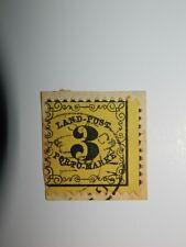 127-BADE timbre taxe n°2 oblitéré sur fragment de lettre