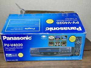 NEW Open Box Panasonic PV-V4020 VCR Video Cassette Recorder VHS Player 4 Head
