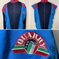 Quarry Italia Retro Vintage 80's 90's Blue Jacket Vest Removable Arms M VGC RARE