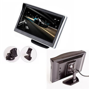 "5"" Car Monitor TFT LCD HD Digital 2 Way Video Input For Rear View Camera DVD VCD"