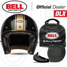 CASCO JET MOTO BELL CUSTOM 500 DLX RALLY GLOSS BLACK/BRONZE NERO LUCIDO BRONZO