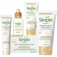 Simple Protect and Glow Bundle of Face moisturiser, Face wash and Clay Mask