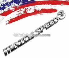 1 - NEW 3D MAZDASPEED Chrome Badge Emblem Mazda 2 3 5 6 RX7 RX8 MAZDASPEED3 CH