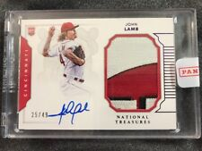 2016 MLB National Treasures John Lamb RC Patch Auto PRIME PATCH!! Reds /49