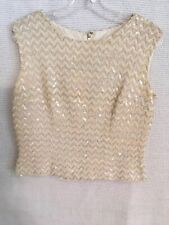 vintage sequin beaded tops blouses