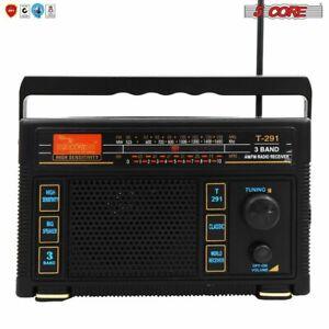 5Core ORIGINAL FM TRANSISTOR RADIO AM/FM 3 Band PORTABLE Vintage POWERED T-291