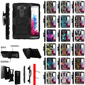 For LG V10 LG G4 Pro Holster Clip + Kickstand Protective Double Layer Case