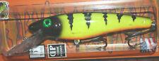 "6"" Little Ernie Musky Mania Pike Crankbait Glitter Perch LE-16 Drifter Tackle"