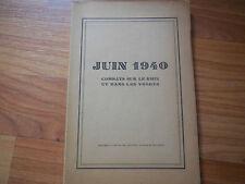Juin 1940;Combats sur le Rhin et dans les Vosges+Lettre destinée au GL Bapst;R4L