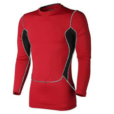 Mens Compression Long Sleeve Shirt Sport Tight Gym Under Base Layer Jogging Tops