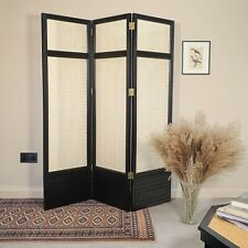 More details for gorgeous vintage three-panel folding screen with **french cane webbing**