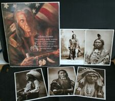 NATIVE AMERICAN Card Bundle - Chief Red Cloud Sign and 5 Postcards