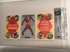1966 Topps COMIC BOOK FOLDIES #36 'Stretching Hero' GAI Graded NM-MT 8