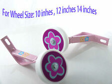 "Kids girl Bicycle Heavy Duty Training Wheels for 14"" Bike Children pink purple"