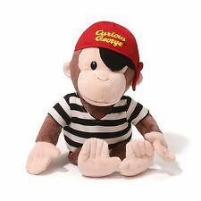 # New CURIOUS GEORGE Plush Toy Stuffed Animal GUND Pirate Costume MONKEY ~Fun~