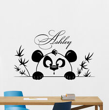 Personalized Panda Wall Decal Custom Name Decor Nursery Vinyl Sticker Art 352xxx