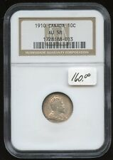 1910 Canada Ten Cent - NGC AU58