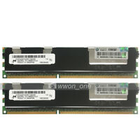 Micron 16GB 2x8GB 2Rx4 PC3-10600R DDR3-1333Mhz 240Pin ECC REG Server Memory RAM