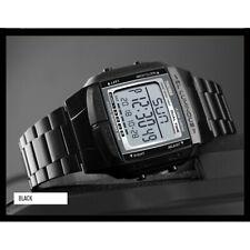 Black SKMEI Watch Sport Mens Alarm Waterproof Digital LED Classic Wristwatch UK