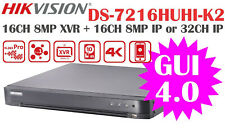 Hikvision 8MP DVR 16CH BNC+16CH IP 4K HDMI NEW GUI4.0 DS-7216HUHI-K2 (NO HDD)