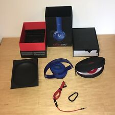 Genuine Beats by Dr Dre Solo 2 Wired - Headband Headphones Blue Excellent Boxed