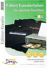 Your Design 16 T-Shirt Transferfolien für dunkle Textilien A4 InkJet