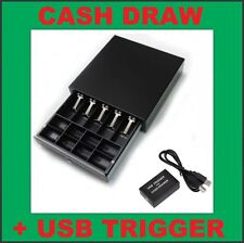 Heavy Duty Electronic Cash Drawer+USB Trigger TILL/BOX/DRAW POS 5 x Note,8 Coin