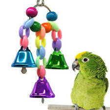 Bird Bell Parrot Ringer Toys Chew Hanging Swing Cage Cockatiel Parakeet Toys Hot