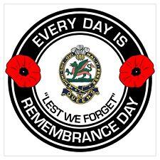 The Queens Regiment classic Remembrance day Regimental Sticker