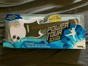 Tiger Electronics Power Tour White Gibson Electric Guitar Toy New In Box