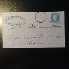 France Napoléon N°22 on Letter Cover Gc 756 Castelnau to Have Index 13