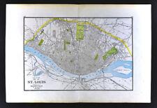 1904 Georg Cram Map St. Louis Missouri Louisiana Purchase Exposition Worlds Fair