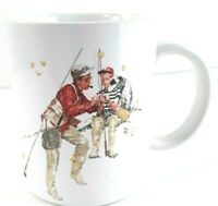 Coffee Mug TROUT DINNER 1987 Museum Collections NORMAN ROCKWELL Cup