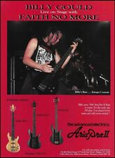 Faith No More Billy Gould Aria Pro II Integra Series Bass guitar 8 x 11 ad print