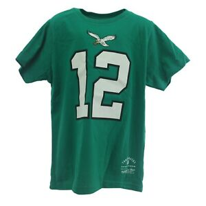 NFL Philadelphia Eagles Randall Cunningham Youth Kids Size Throwback T-Shirt New