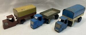 Dinky Mechanical Horse and Trailer X 3