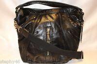 NEW! NWT! L.A.M.B. Gwen Stefani Black Leather Brunswick Curve Hobo $298