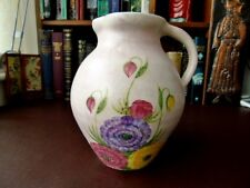 1930's  E Radford Art Deco Pottery Jug/Vase - Hand Painted Floral Decoration