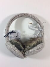 American Eagle Techcessories Ear Muffs with Removable Headphones Knit Gray Fur