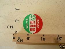 STICKER,DECALALFA CIDER KEBO WK ITALIA 1990, FOOTBALL SOCCER