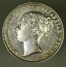 Great Britain Silver Shilling 1857  Attractive early date once cleaned  -  A916