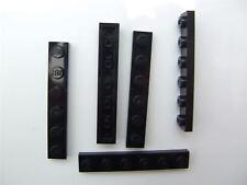 5 x Lego Black  plate (size 1x6) - 366626 (Parts & Pieces)