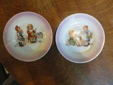 """CUTE!!! Old  Pair Of Child's 5"""" Plates - Signed GERMANY - Great Child Graphics"""