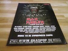 IRON MAIDEN - Publicité de magazine / Advert !!! GRASPOP 2 !!!
