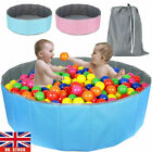Soft Baby Folding Ball Pit Foam Pool Blue Pink 100 Ocean Balls for Baby Toddler