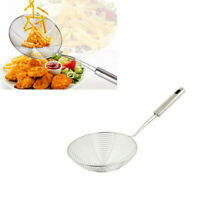 Strainer Skimmer Stainless Steel Spider Strainer Ladle Kitchen 12 Inches Bowl .