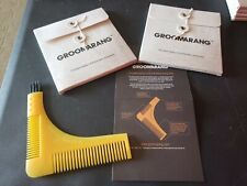 Beard Styling Comb Groomarang Shaping Template Tool And Moustache Face Lot of 2